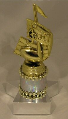 Music Notes Figurine Trophy 168mm Engraved FREE