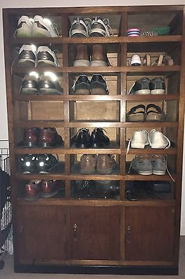 Timber Japanese Shoe Locker - 21 pairs of shoes!