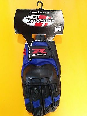 ** Brand New Suzuki Gsxr - Vertical / Joe Rocket Motorcycle Gloves - Blue***