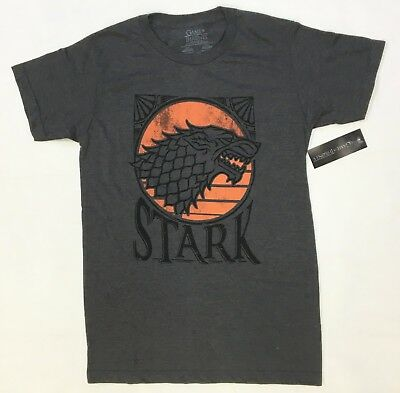Game Of Thrones STARK RED MOON DIREWOLF SIGIL T-Shirt NWT Licensed