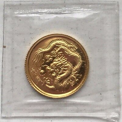1988 Singapore 1/20 oz Gold 5 Singold Year of the Dragon BU Gold Coin