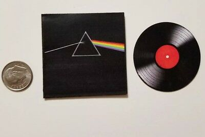 Miniature record album Barbie Gi Joe 1/6   Playscale Pink Floyd Dark side Moon