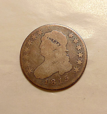 1815 Capped Bust Quarter - Scarce Key Date - Nice Looking Coin