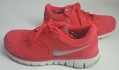 NIKE Ventilated Flex Womens Running Shoes Sneakers Pink Neon Size 7, 512108 601