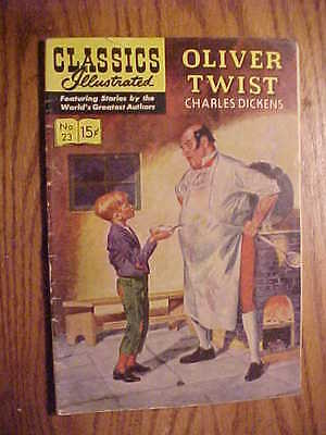 Classics Illustrated #23 Oliver Twist    (Hrn 150)  Vg- Condition