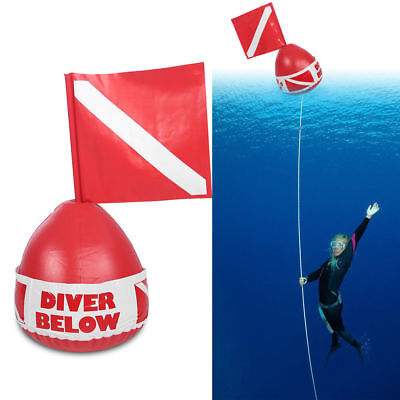 Quick Inflates Scuba Diving Below Inflatable Signal Floater Dive Flag Bouy Ball