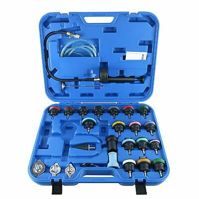28PC Radiator Pressure Tester Tool Vacuum Type Cooling System Refill Kit 35PSI