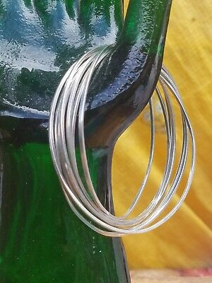 Vintage Sterling Silver Eternity Interlocking Bangle Bracelet