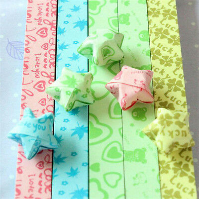85 Strips/pack Folding Lucky Stars Origami DIY Strips Bear Clover Random Pattern