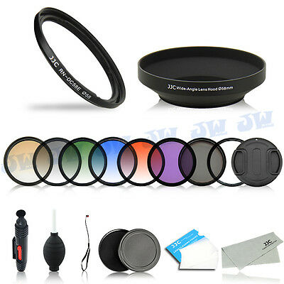 Lens Adapter Ring Hood Graduated Filters Kit For Canon PowerShot G1X Mark II