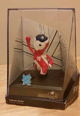Wenlock  London 2012 Olympic Union Flag Mascot Figurine Display Case
