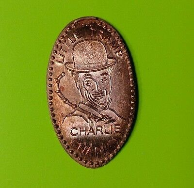LITTLE TRAMP CHARLIE CHAPLIN Comic Actor Elongated Copper Pressed Penny Coin