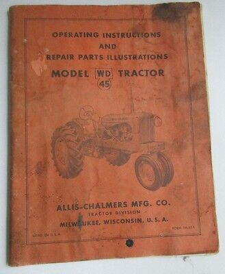Allis-Chalmers Model WD 45 Tractor Manual