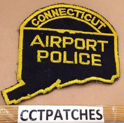 Connecticut Airport Police State Shape Shoulder Patch Ct