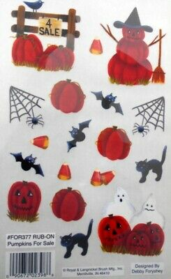 Halloween *SPOOKY PUMPKINS * Royal & Langnickel rub--ons*Scrapbooking/Cardmaking