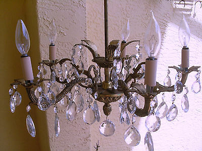 Antique empire chandelier lights with crystal tear