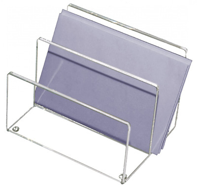 Acrylic Mini Letter Sorter Mail Holder Desk File Organizer Storage Tray Office