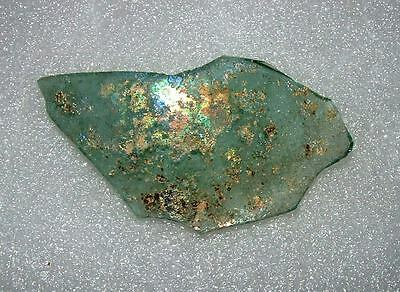ancient roman glass fragment with very lovely patina amazing.large