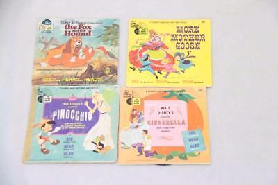 4 x Disney Books and Records #12458