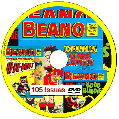 Beano Comic Library 105 Comics 1982-1987 on DVD                               B3