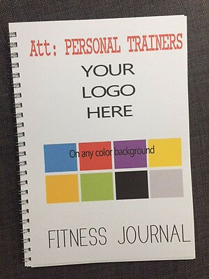 PERSONALISED Fitness Journal - Gym Health log book Diary - A5 Personal training