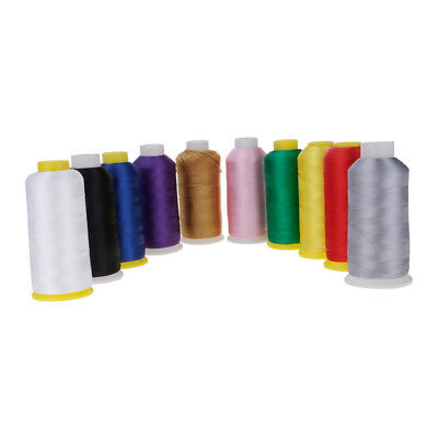 Sewing Machine Line Polyester Embroidery Thread 120D/2 Roll 5000M 135G 6x12.5 CM