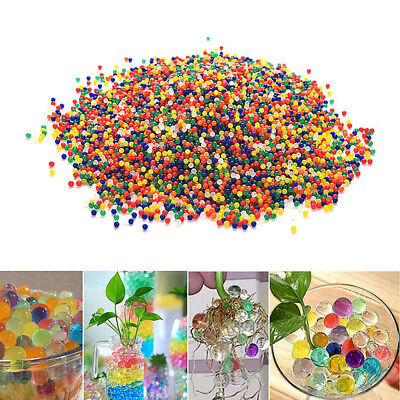 10000 Colorful Crystal Water Plant Grow Beads Ball Soft Paintball AU Seller