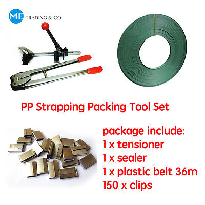 4 in 1 Strapping Packing Machine Strapping Tool Set Tensioner with Cutter