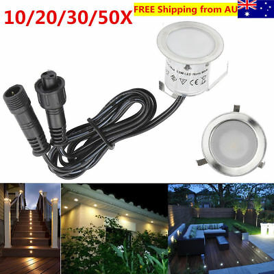 10/20/30/50PCS 12V 32mm Outdoor Yard Kickboard LED Deck Rail Step Stair Lights