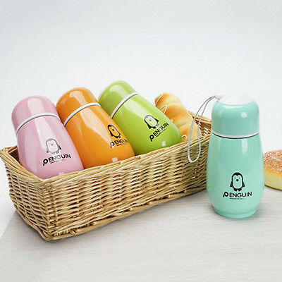 Lovely Penguin Stainless Steel Thermos Bottle Vacuum Cup Flask Cup Mug Kids