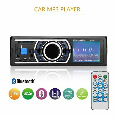 1 DIN Car Bluetooth Radio Stereo FM MP3 Player AUX Input USB SD + Remote Control
