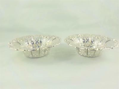 Antique solid silver dishes Martin Hall & Co  Sheffield 1895 c  155 g