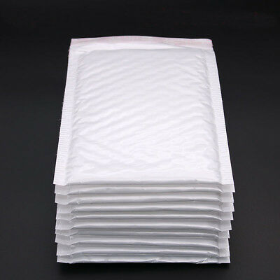 10PC Pack White Poly Plastic Bubble Envelope Mailer For Mailing Bags Packaging