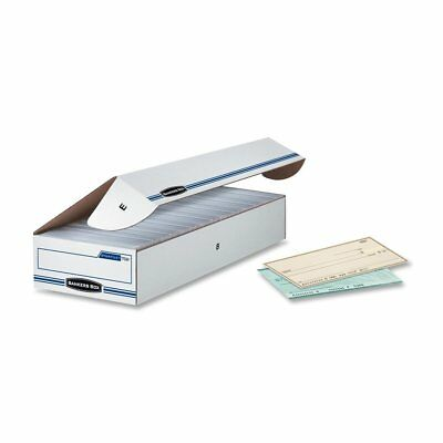 """Bankers Box Stor/File Check Boxes, Check, 4"""" x 9"""" x 24"""", 12 Pack 00706"""