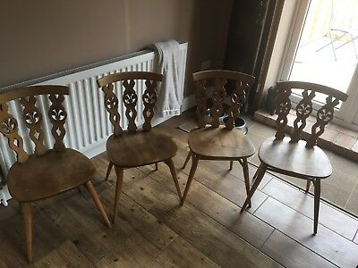 Ercol Four Restored Blonde Chairs Gorgeous