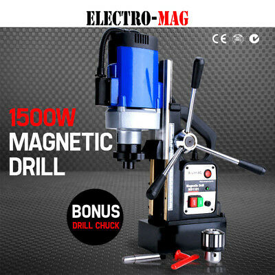 240v Commercial Magnetic Drill Electric Electro-Mag Base Chuck Power AU Stock
