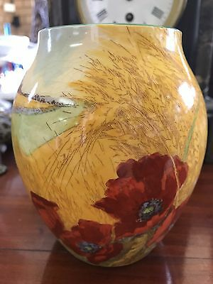 Royal Doulton Poppies In The Cornfield Vase
