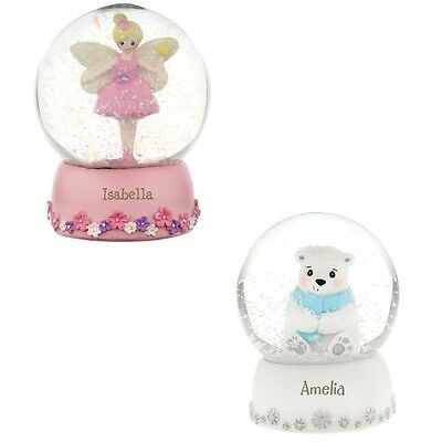 PERSONALISED Fairy Polar Bear Any Name Christmas Snow Globe Gift Child Girl Boy