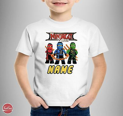 """The Lego Ninjago Movie Personalised """"Your Name"""" T-SHIRT T SHIRT TEE Kids Gift"""