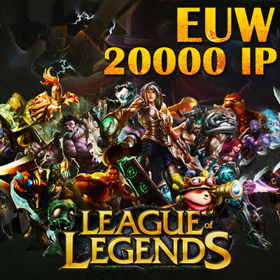 League of Legends LoL EUW Smurf Account 20000 IP Unranked Level 30 PC Europe