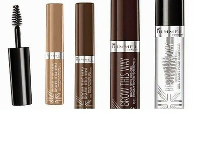 Rimmel Brow This Way Eyebrow Styling Gel - CHOOSE YOUR SHADE
