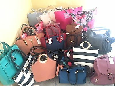 18 New with Tags Fashion Women's Handbags Purses Totes Wholesale Lot Haul
