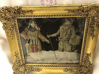 Wool Work Late 1700s In Frame