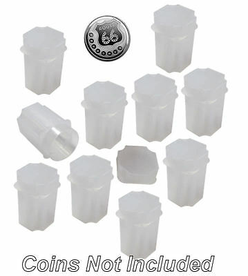 Medallion (Silver Round) Square Coin Tubes by Guardhouse, 39mm, 10 pack