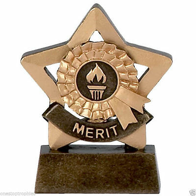 """3.25"""" Merit Mini Star Trophy FREE Engraving Up To 30 Letters option gift box"""