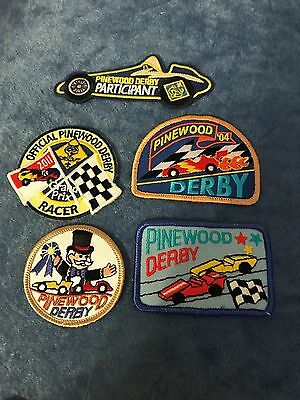 BSA, Cub Scout Pinewood Derby Patches, Lot of 5