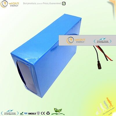 48V 25AH rechargeable Battery Pack Lithium li-ion electrical bike ebike scooter