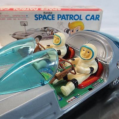 4232 Blechspielzeug Tin Toy Japan Boxed Bandai Space Patrol Car No Antikspielzeug