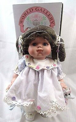 """Colleen Applewhite Buttons & Bows Porcelain Doll, World Gallery Collection 16"""" T"""
