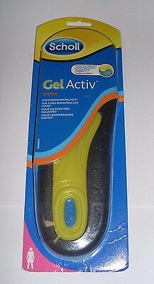 Scholl Gel Activ Work Insoles Women UK Size 3.5 - 7.5 - SK077 BB 25